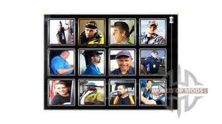 Les Avatars des pilotes v1.1 pour American Truck Simulator