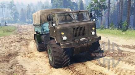 GAZ-66 Mammut Kuzma für Spin Tires