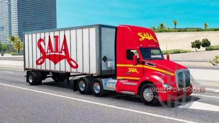 Le trafic de fret dans les couleurs de compagnies de transport pour American Truck Simulator