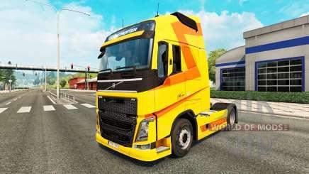 Coloration jaune de la peau pour Volvo camion pour Euro Truck Simulator 2