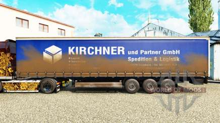 La peau Kirchner sur un rideau semi-remorque pour Euro Truck Simulator 2