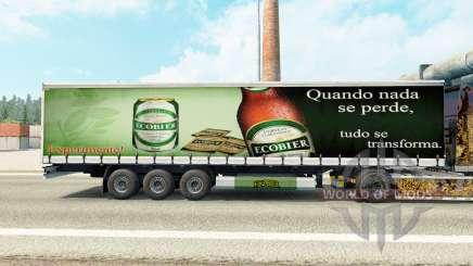 La peau Ecobier sur un rideau semi-remorque pour Euro Truck Simulator 2