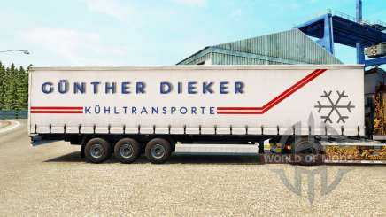 La peau Gunther Dieker sur un rideau semi-remorque pour Euro Truck Simulator 2