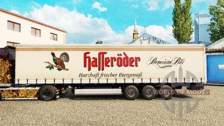 La peau Halleroder sur un rideau semi-remorque pour Euro Truck Simulator 2