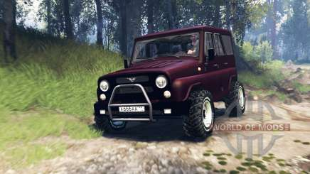 UAZ-315195 chasseur turbo v3.0 pour Spin Tires