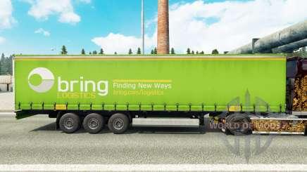 Haut, Bringen Logistik auf einen Vorhang semi-trailer für Euro Truck Simulator 2