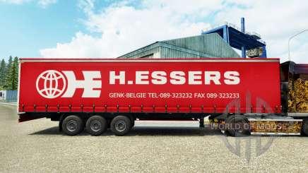 H. Essers de la peau pour rideau semi-remorque pour Euro Truck Simulator 2