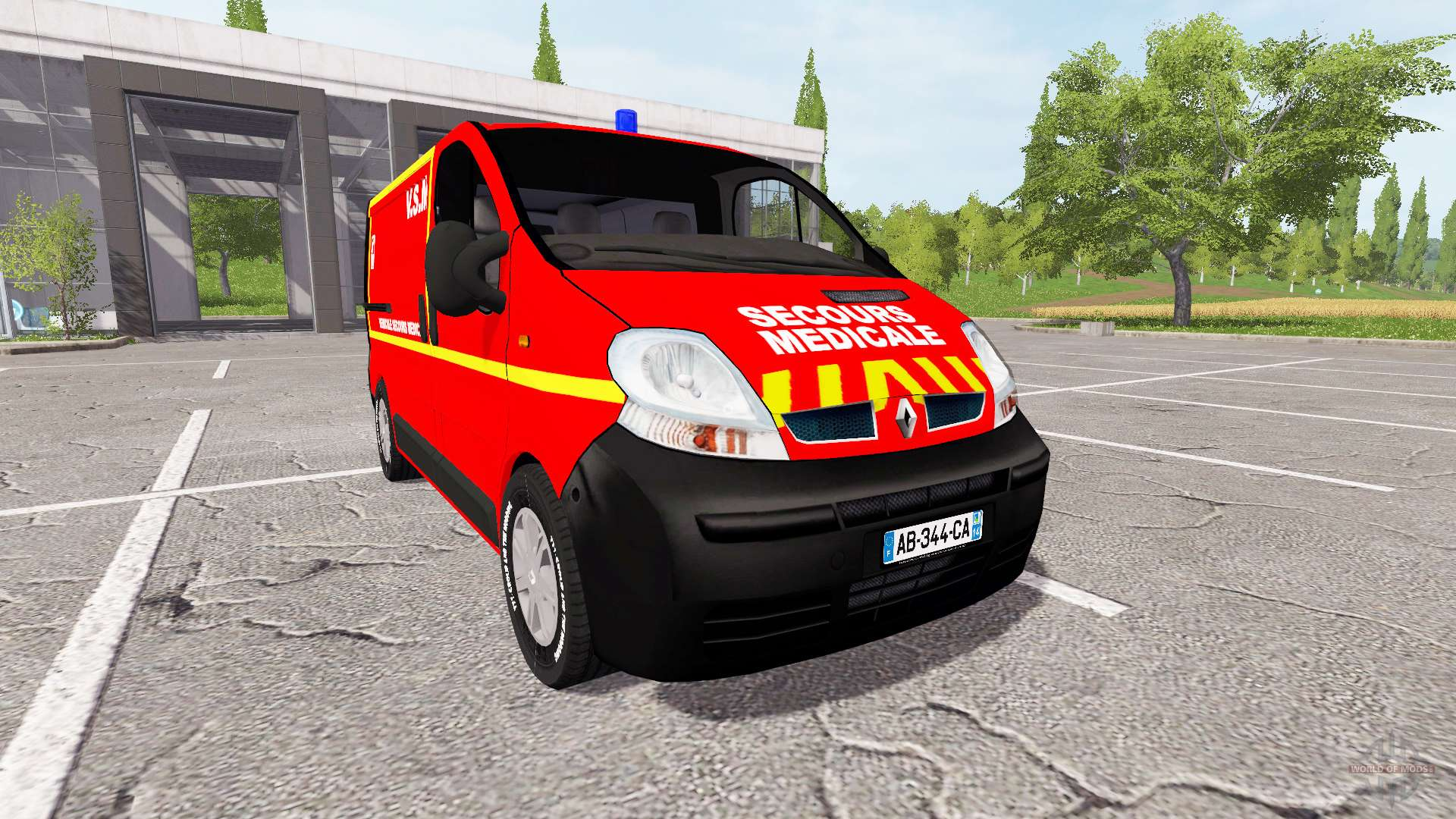 renault trafic secours medicale pour farming simulator 2017. Black Bedroom Furniture Sets. Home Design Ideas
