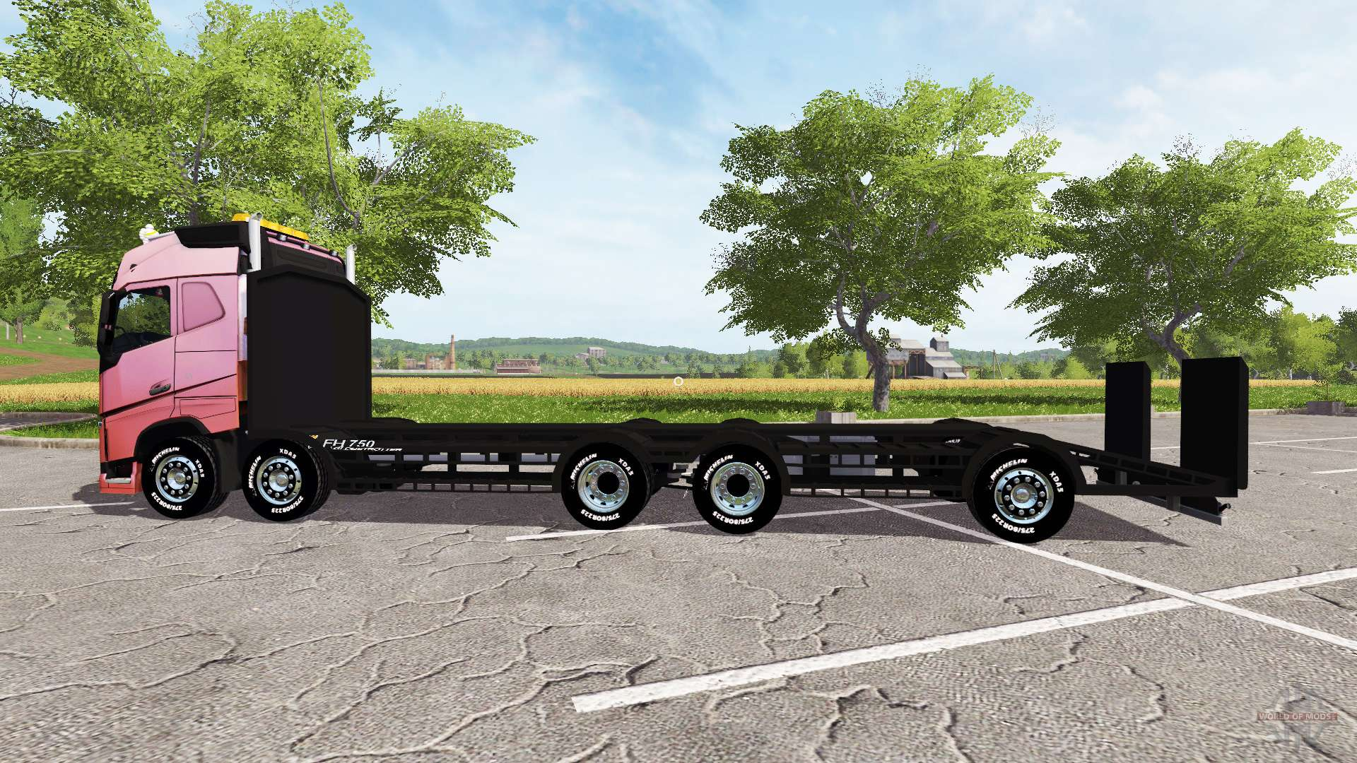 volvo fh 750 tow truck pour farming simulator 2017. Black Bedroom Furniture Sets. Home Design Ideas
