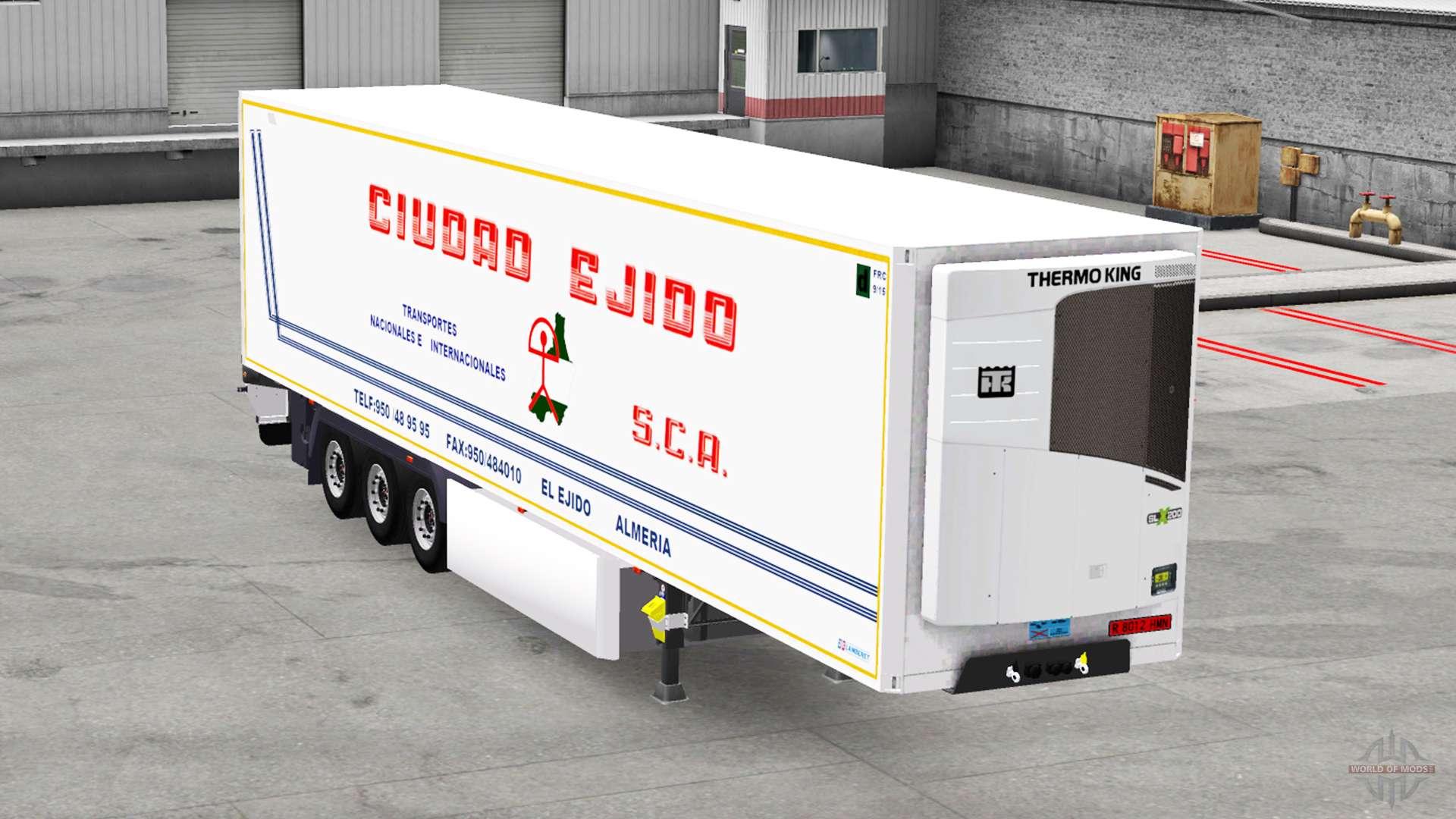 frigorifique semi remorque en pour american truck simulator. Black Bedroom Furniture Sets. Home Design Ideas