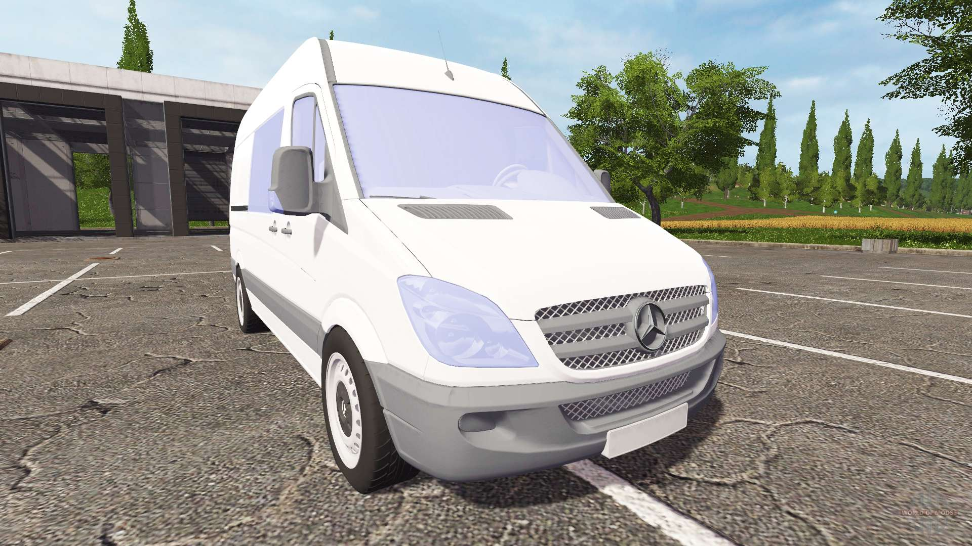 mercedes benz sprinter pour farming simulator 2017. Black Bedroom Furniture Sets. Home Design Ideas