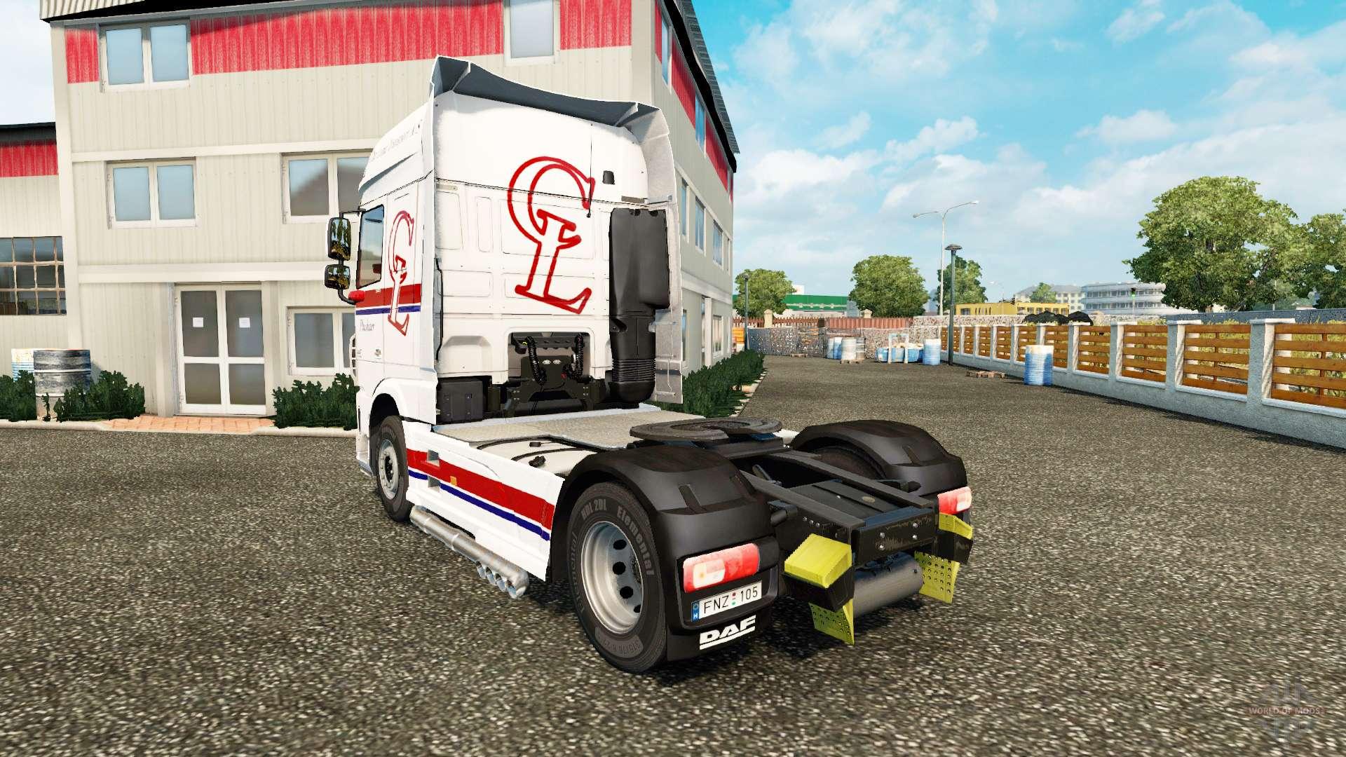 haut chr lund auf zugmaschine daf f r euro truck simulator 2. Black Bedroom Furniture Sets. Home Design Ideas
