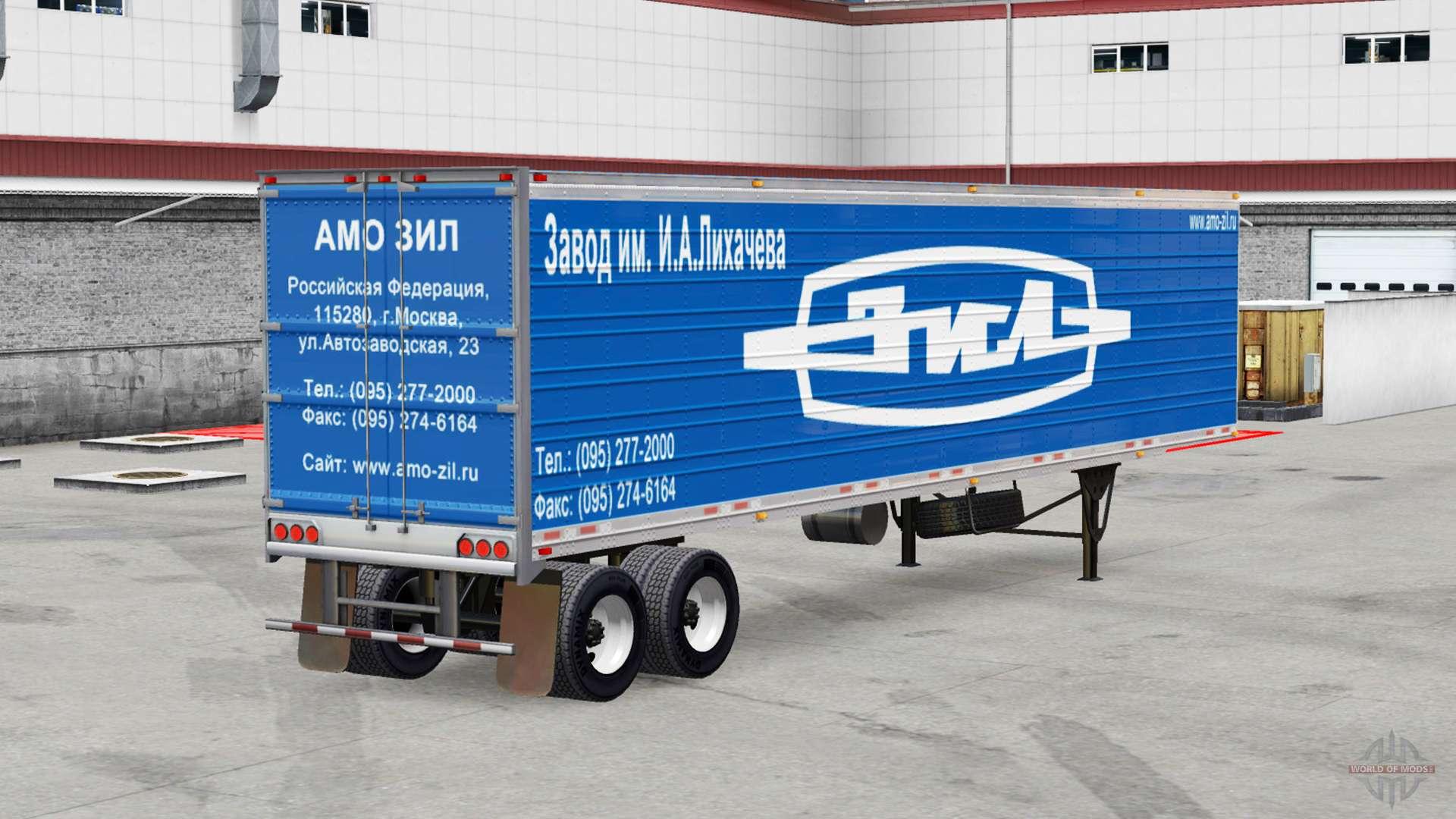 les peaux de marques de voitures semi remorques pour american truck simulator. Black Bedroom Furniture Sets. Home Design Ideas