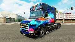 Le néon de la peau pour camion Scania T
