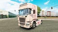 Haut Pink Panter auf Zugmaschine Scania