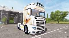 Scania R700 Evo gold blanc