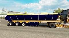 Un camion semi-remorque