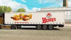 Wendys Haut auf dem Anhänger Vorhang