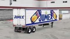 Jumex Haut auf der reefer-trailer