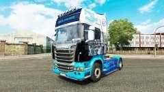 La peau sur le tracteur Scania