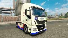 La peau de la FINA sur le camion Iveco Hi-Way