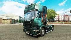 La peau Fantasy Navire sur le tracteur Scania