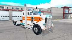 La peau des rayures Oranges sur le camion Peterb