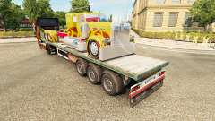 Semi-trailer-Plattform truck Peterbilt