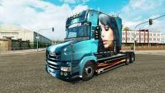 Schöne Mädchen-skin für den truck Scania T