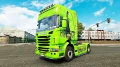 La peau de Hip-Hop sur le tracteur Scania