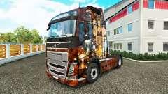Sexy Steampunk-skin für den Volvo truck