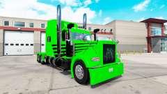 Haut-Grün-Neid-Express für die truck-Peterbilt 3