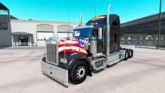 La peau Harley-Davidson sur le camion Kenworth W