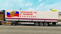 Auflieger Transport der humanitären Fracht