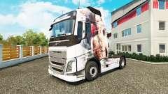 Haut-Künstlerische Mädchen bei Volvo trucks