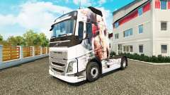 La peau Artistique Fille chez Volvo trucks