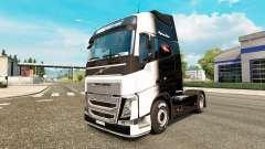 Die Schwarze und die Weiße Haut für Volvo-LKW