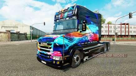 Neon-Haut für LKW Scania T für Euro Truck Simulator 2
