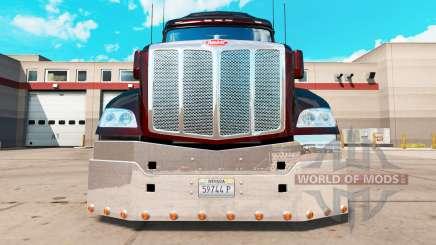 Pare-chocs en Chrome pour un Peterbilt 579 tracteur pour American Truck Simulator