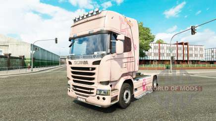 Haut Pink Panter auf Zugmaschine Scania für Euro Truck Simulator 2