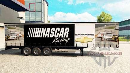 La peau de NASCAR sur un rideau semi-remorque pour Euro Truck Simulator 2
