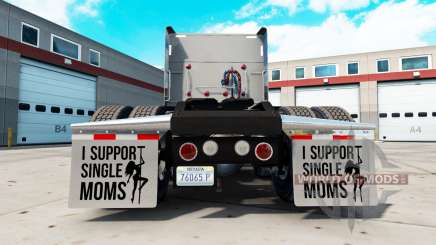 Kotflügel I Support Single Moms v2.1 für American Truck Simulator