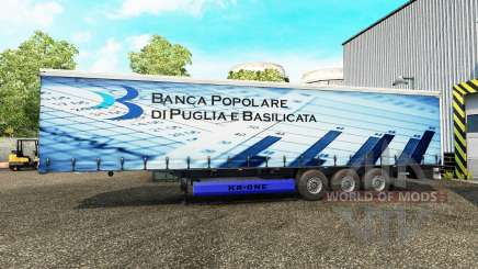 Skins sur un rideau semi-remorque pour Euro Truck Simulator 2
