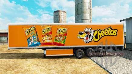 La peau Cheetos sur frigorifique semi-remorque pour Euro Truck Simulator 2