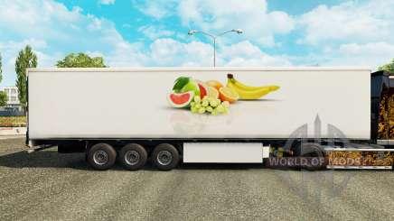 Die Haut von der Frucht, die auf kühl-Auflieger für Euro Truck Simulator 2