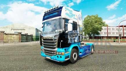 Die Haut auf der Zugmaschine Scania für Euro Truck Simulator 2