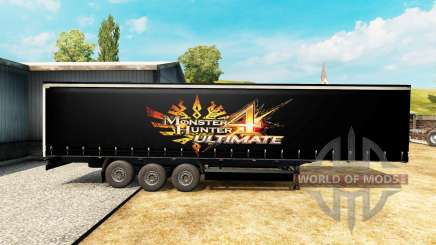 La peau de Monster Hunter 4 Ultimate sur la remorque pour Euro Truck Simulator 2