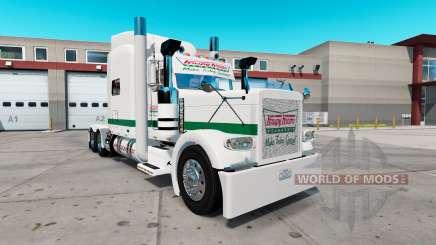 Haut knusprig-cremigen für die truck-Peterbilt 389 für American Truck Simulator