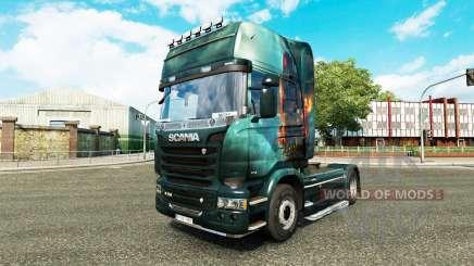 Haut-Fantasy-Schiff auf der Zugmaschine Scania für Euro Truck Simulator 2