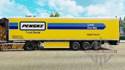 Penske Haut für den Kühlanhänger für Euro Truck Simulator 2